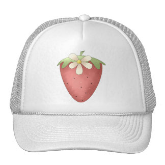 Welcome Spring · Strawberry & Flower Mesh Hat