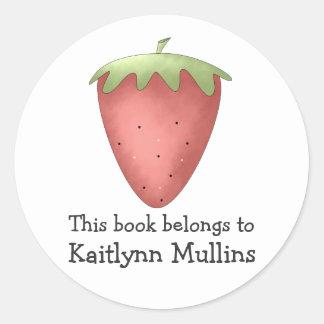 Welcome Spring · Strawberry Round Sticker
