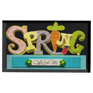 Welcome Spring Table Card Holder