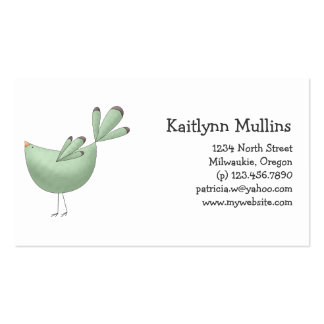 Welcome Spring · Teal Bird Business Card Template