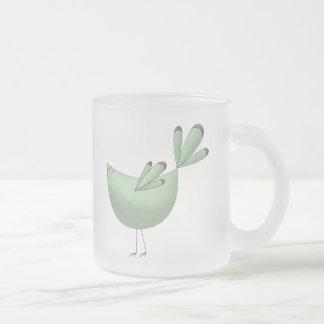 Welcome Spring · Teal Bird Coffee Mugs