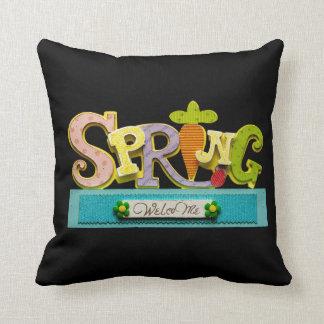 Welcome Spring Throw Cushion