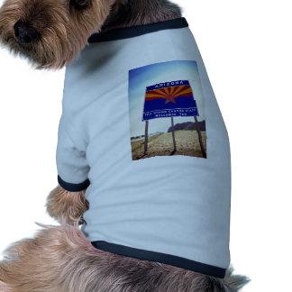 Welcome to Arizona sign at Lupton, Arizona Desert Doggie T-shirt