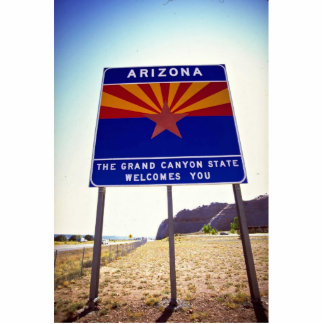 Welcome to Arizona sign at Lupton, Arizona Desert Acrylic Cut Out