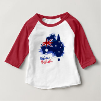 Welcome to Australia | Watercolor Style Baby T-Shirt