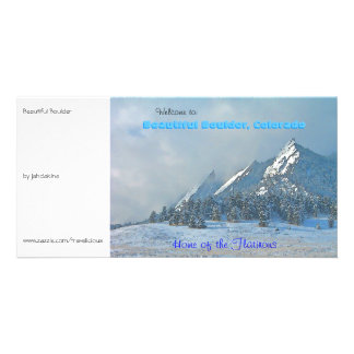 Welcome to Beautiful Boulder, Colorado Photo Greeting Card