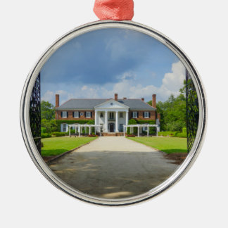Welcome To Boone Hall Silver-Colored Round Decoration