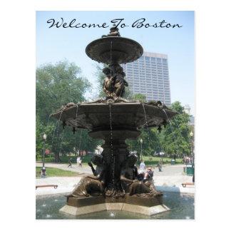 Welcome To Boston Postcard
