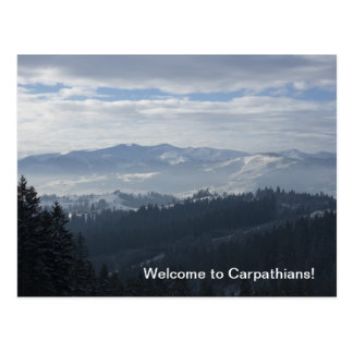 Welcome to Carpathians! Postcard