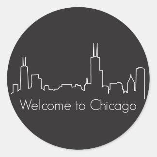 Welcome to Chicago Round Sticker
