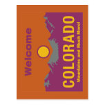 Welcome to Colorado - USA Road Sign Post Cards
