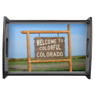 Welcome to Colorful Colorado  Wooden Serving Tray