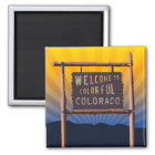 welcome to colourful colorado magnet