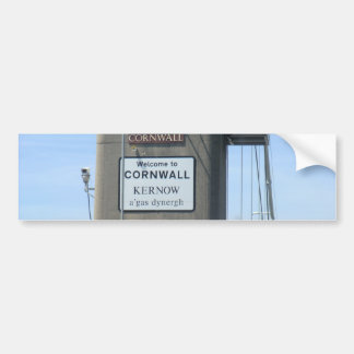 Welcome to Cornwall - Kernow a gas Dynergh Bumper Sticker