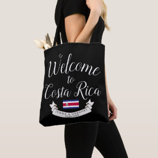 Welcome to Costa Rica | Destination Wedding Custom Tote Bag