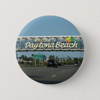 Welcome to Daytona Beach 6 Cm Round Badge