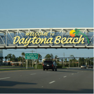 Welcome to Daytona Beach Photo Sculpture Magnet