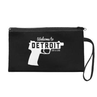 Welcome to Detroit Lock & Load Wristlet Clutch