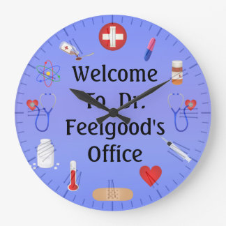 Welcome To Doctor s Office Customizable Clock