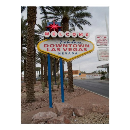 Welcome to Downtown Las Vegas Poster Print