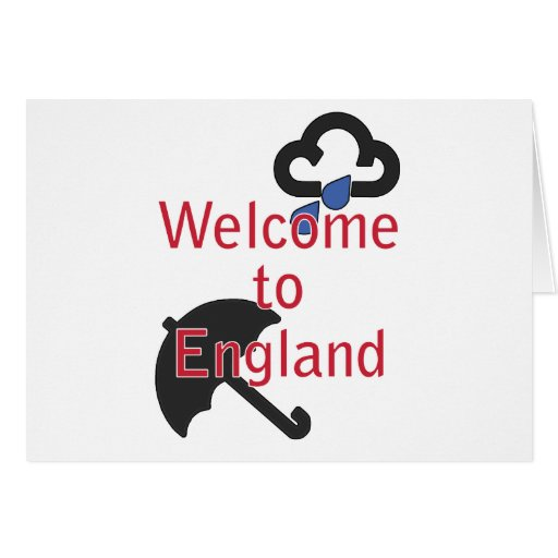 Welcome to England! Greeting Cards