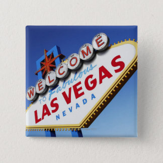 Welcome To Fabulous Las Vegas 15 Cm Square Badge