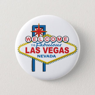 Welcome to Fabulous Las Vegas 6 Cm Round Badge