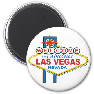 Welcome to Fabulous Las Vegas 6 Cm Round Magnet