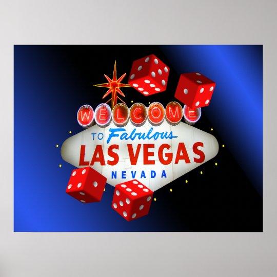 Welcome to Fabulous Las Vegas Blue Glow Poster
