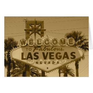 Welcome to Fabulous Las Vegas Greeting Card