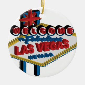 Welcome to Fabulous Las Vegas Christmas Ornament