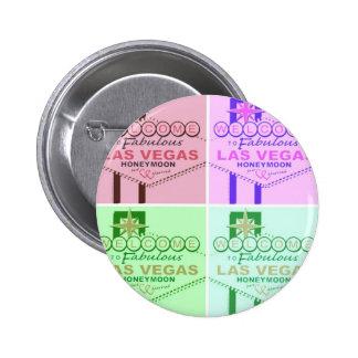 Welcome to Fabulous Las Vegas Honeymoon 6 Cm Round Badge