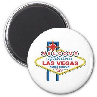 Welcome to Fabulous Las Vegas Honeymoon 6 Cm Round Magnet