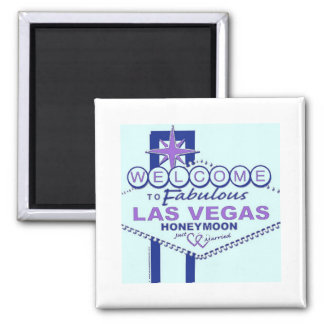 Welcome to Fabulous Las Vegas Honeymoon Square Magnet