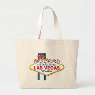 Welcome to Fabulous Las Vegas Large Tote Bag