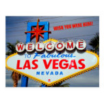 Welcome to Fabulous Las Vegas Nevada Post Card