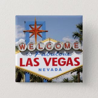 Welcome to Fabulous Las Vegas Nevada Sign 15 Cm Square Badge