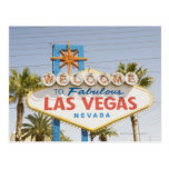 Welcome to fabulous las vegas nevada sign post card