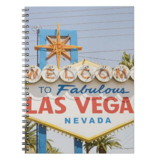 Welcome to fabulous las vegas nevada sign spiral notebooks
