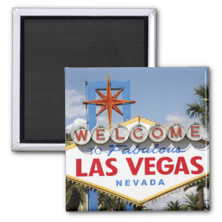 Welcome to Fabulous Las Vegas Nevada Sign Square Magnet