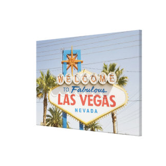Welcome to fabulous las vegas nevada sign stretched canvas print
