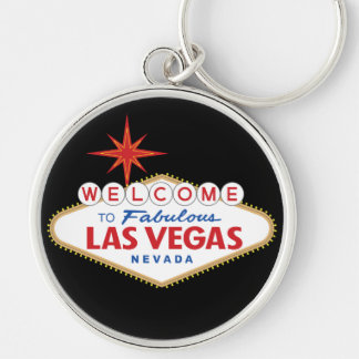 Welcome to Fabulous Las Vegas, Nevada Silver-Colored Round Key Ring