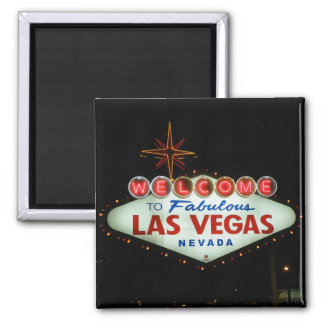 Welcome to Fabulous Las Vegas - Nevada Square Magnet