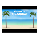 Welcome to Florida: Beach Scene Postcard