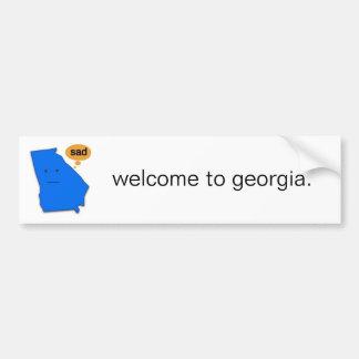welcome to georgia. bumper sticker