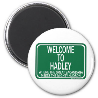 Welcome To Hadley 6 Cm Round Magnet