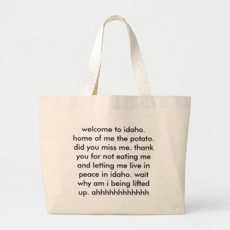 welcome to idaho tote bag