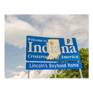 Welcome to Indiana Sign Postcard