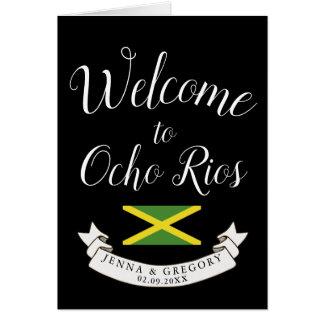 Welcome to Jamaica | Destination Wedding Custom Card