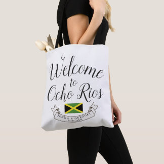Welcome to Jamaica | Destination Wedding Custom Tote Bag